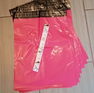 10 pink poly mailers + 10 Thank You Stickers
